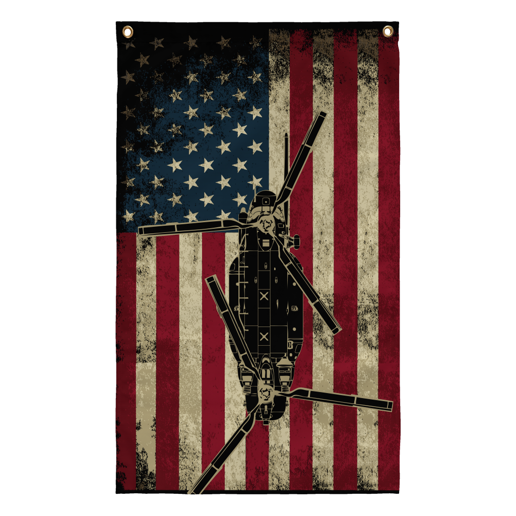 Awesome MH-47 Display Flag!