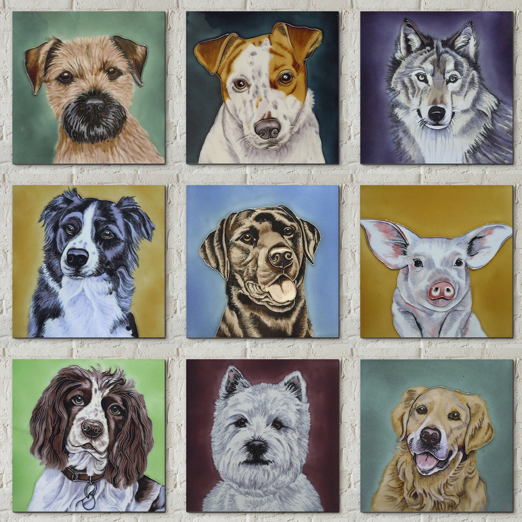 Animal Portrait Picture Tiles by Christine Varley