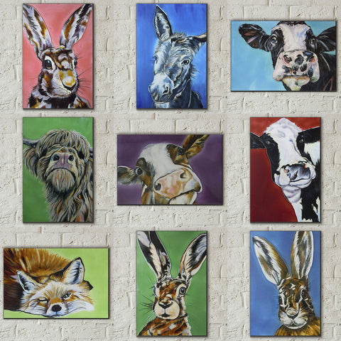 Quirky Animal Portrait Picture Tiles by Sam Fenner