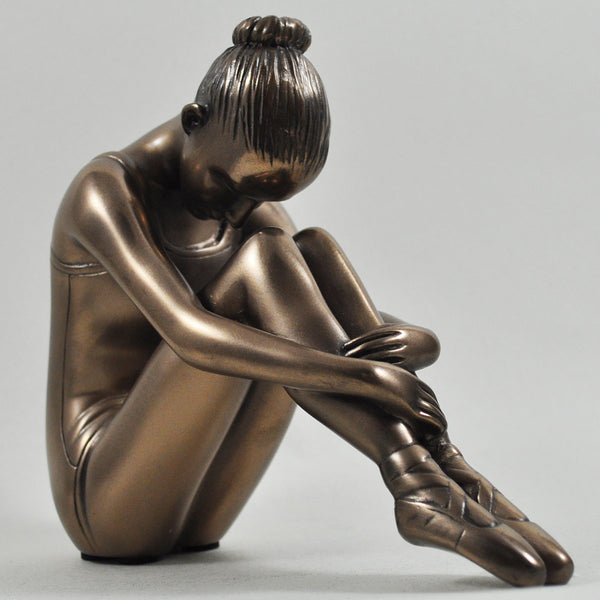 Preparing The Mind for Ballet Bronze Sculpture - Prezents.com