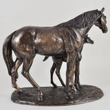 Mare and Foal Bronze Horse Sculpture by Harriet Glen - Prezents  - 3