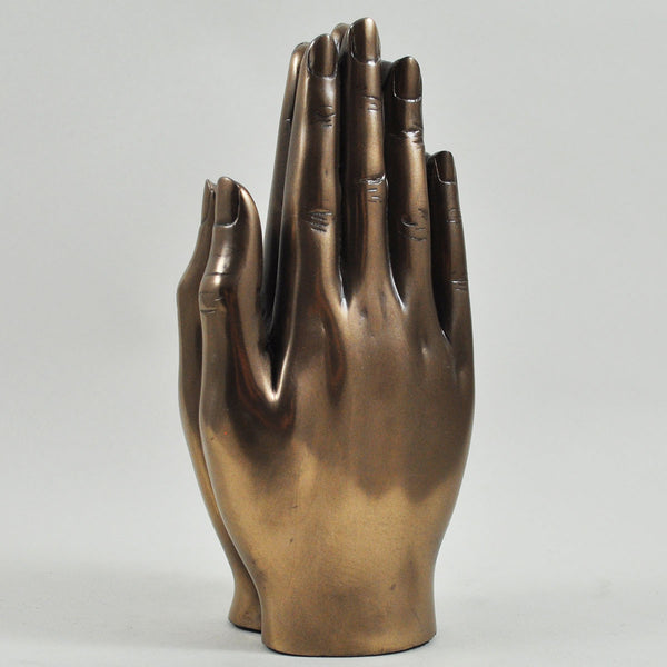 Praying Hands, Cold Cast Bronze Sculpture - Prezents.com