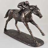 On The Flat Bronze Horse Sculpture by Harriet Glen - Prezents  - 5
