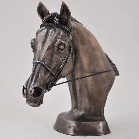 Eventers Head Cold Cast Bronze Horse Sculpture by Harriet Glen - Prezents  - 1