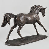 Cantering Arabian Bronze Horse Sculpture by Harriet Glen - Prezents  - 6