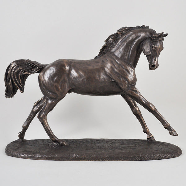 Cantering Arabian Bronze Horse Sculpture by Harriet Glen - Prezents  - 1