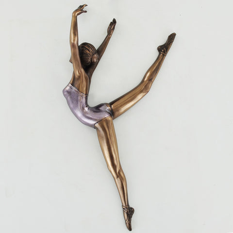 Ballerina Cold Cast Bronze Wall Plaque