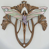 Art Deco She Butterfly Bronze Wall Mirror Plaque - Prezents.com