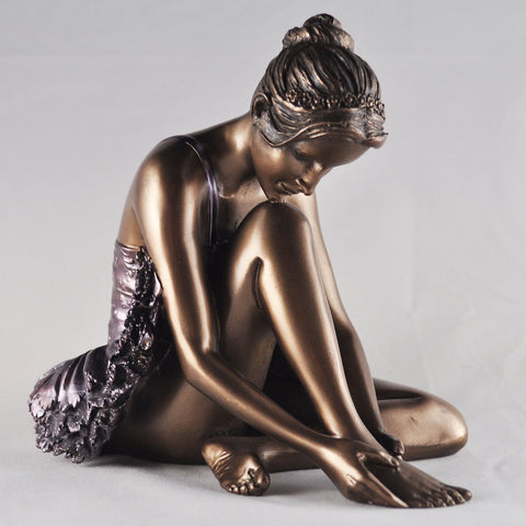 Preparing Ballerina Ballet Bronze Sculpture