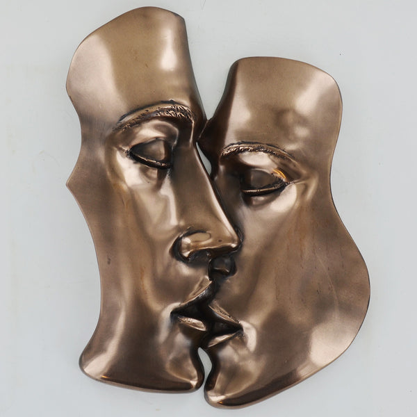 The Kiss Bronze Wall Plaque