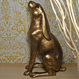 Moonbeam Hare XL Cold Cast Bronze Sculpture by Harriet Glen - Prezents.com