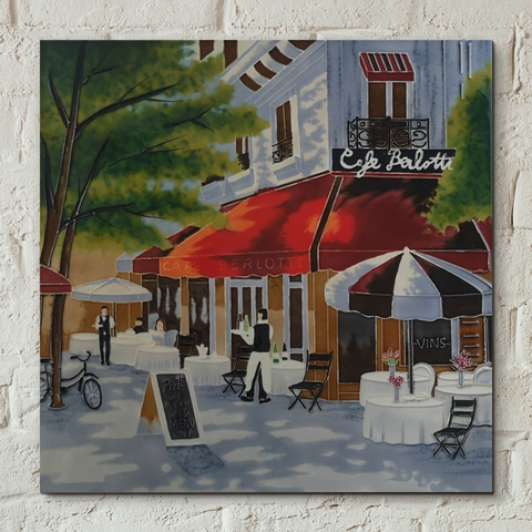 Café Berlotti Decorative Ceramic Tile by Brent Heighton