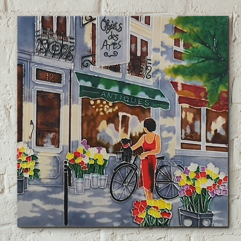 Objets d'Arts By Brent Heighton Decorative Tile 8x8 Inches