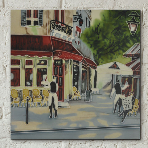 Bistro Waiters Decorative Ceramic Tile by Brent Heighton - Prezents.com