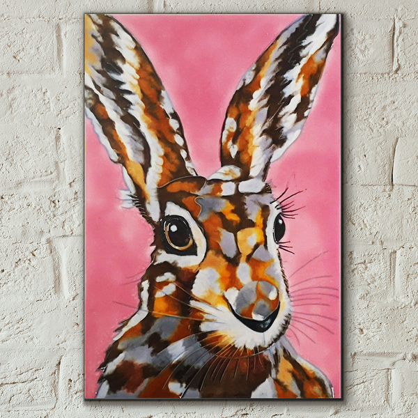 Another Mad Hare Day Decorative Ceramic Tile by Sam Fenner