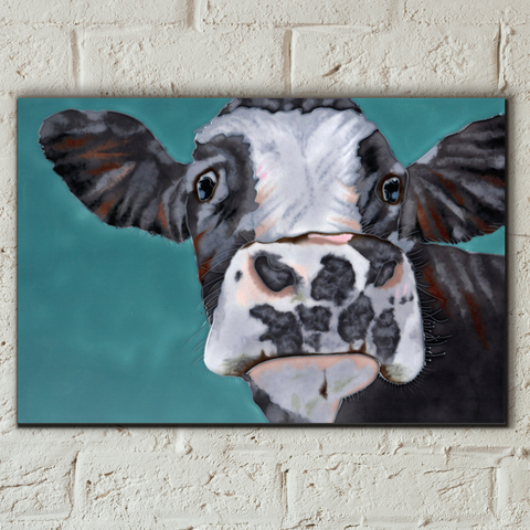 Spotty Cow Decorative Ceramic Tile by Sam Fenner