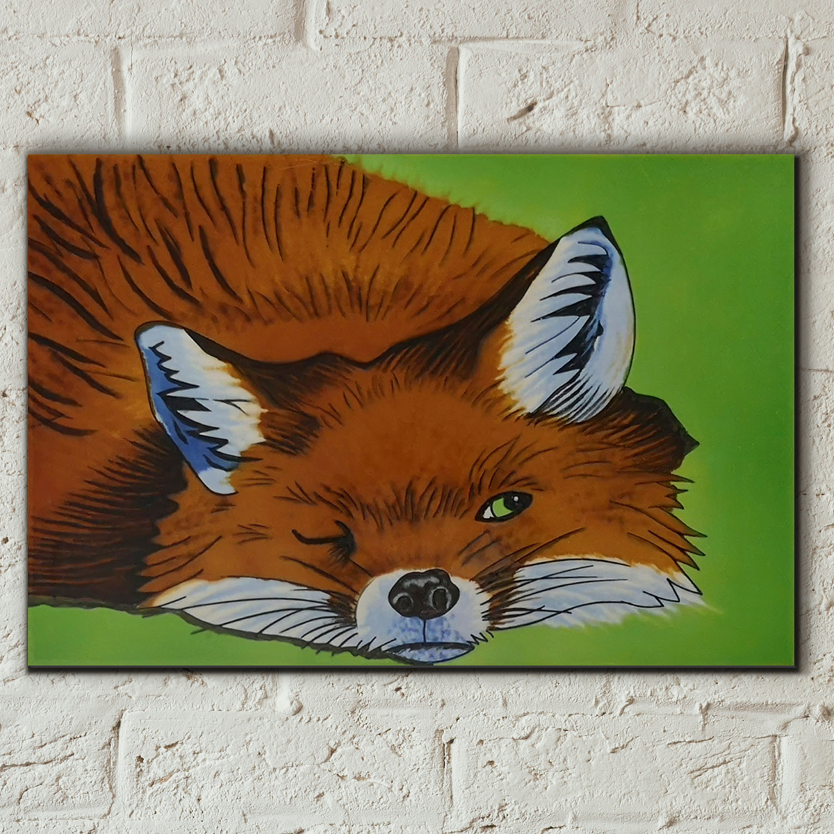 Winking Fox Decorative Ceramic Tile By Sam Fenner Prezents