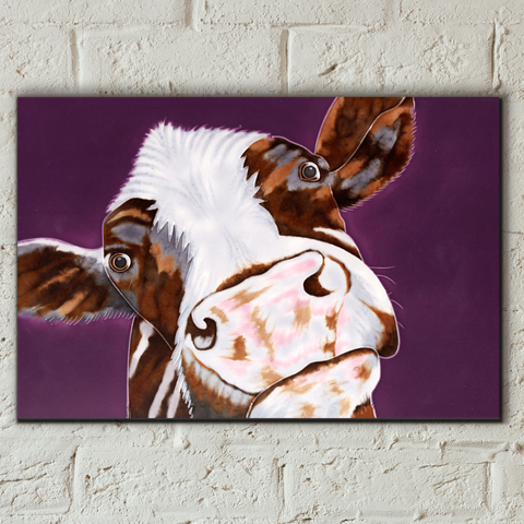Soppy Cow Decorative Ceramic Tile by Sam Fenner