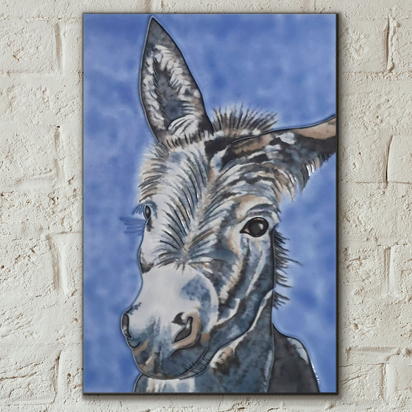 Wonky Donkey Decorative Ceramic Tile by Sam Fenner
