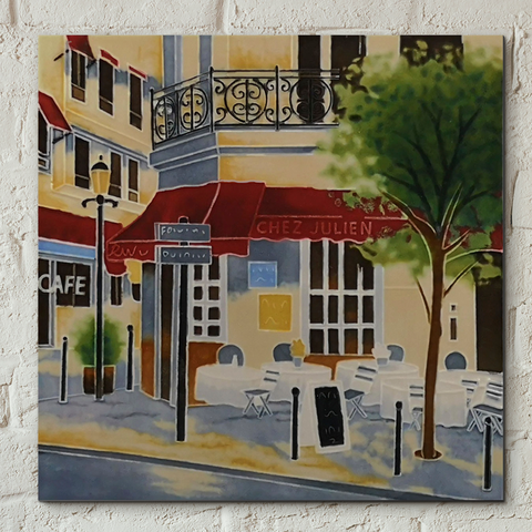 The Crepe House Decorative Ceramic Tile by Brent Heighton