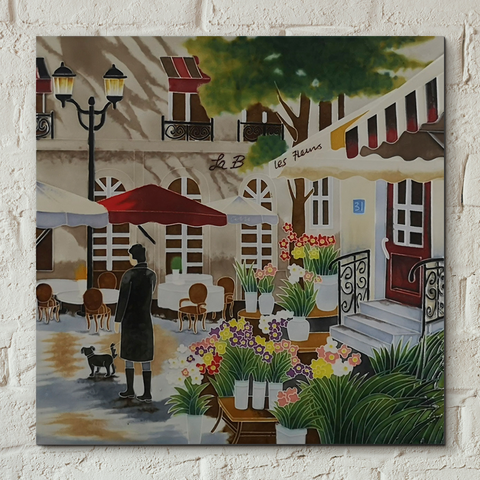 Floral Promenade Decorative Ceramic Tile by Brent Heighton