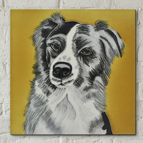Collie Decorative Ceramic Tile by Christine Varley - Prezents.com