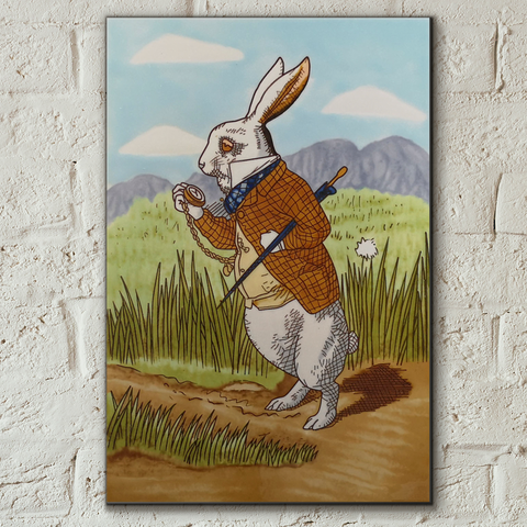 Alice in Wonderland Rabbit Decorative Ceramic Tile