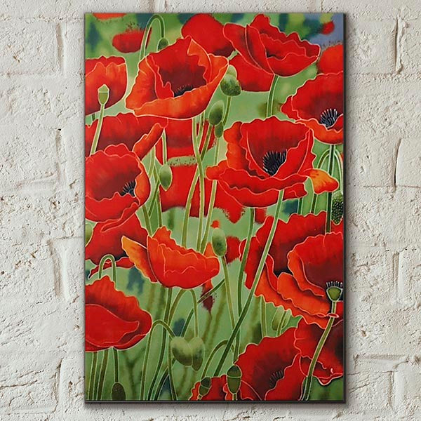 Poppy Fields Decorative Ceramic Tile