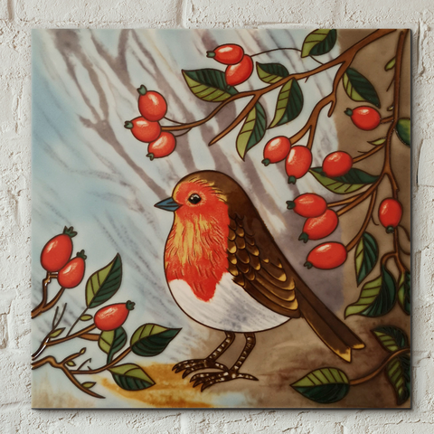 Robin Decorative Ceramic Tile by Judith Yates