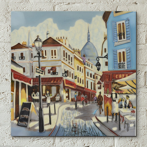 Café Stroll Decorative Ceramic Tile by Brent Heighton - Prezents.com