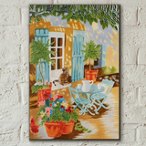 Courtyard Cat Decorative Ceramic Tile by Judith Yates