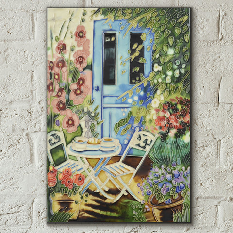 Sunny Breakfast Decorative Ceramic Tile by Judith Yates