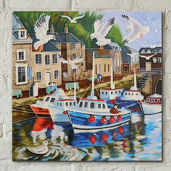 Padstowe Decorative Ceramic Tile by Judith Yates