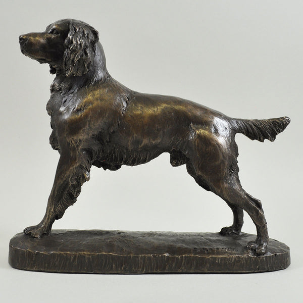 Springer Spaniel Cold Cast Bronze Sculpture by David Geenty - Prezents  - 1