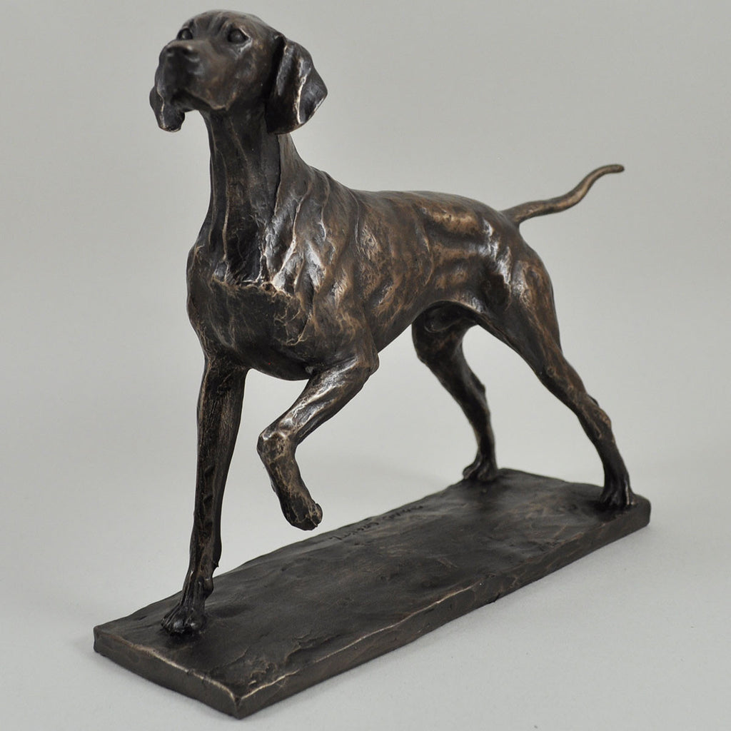 Pointer Cold Cast Bronze Sculpture By David Geenty Prezents