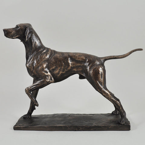 Pointer Cold Cast Bronze Sculpture by David Geenty - Prezents  - 1