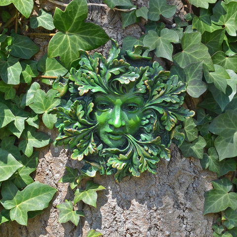 Green Spirit Greenman Garden Wall Art by David Lawrence - Prezents.com