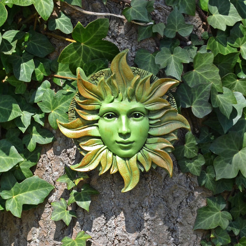Solstice Greenman Garden Wall Art by David Lawrence - Prezents.com