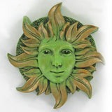 Solstice Greenman Garden Wall Art by David Lawrence