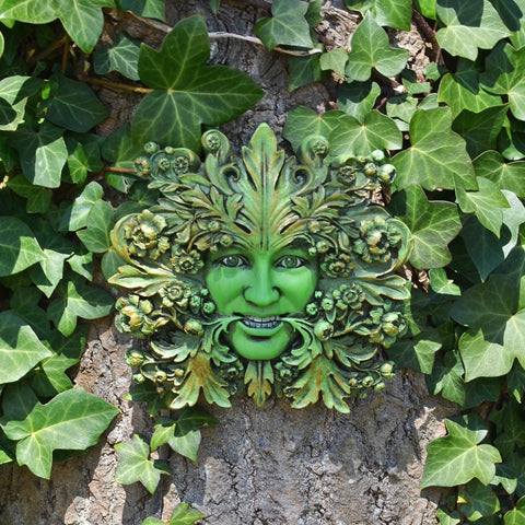 Green Mistress Greenman Garden Wall Art by David Lawrence - Prezents.com