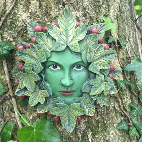 Lady Tendril Greenman Garden Wall Art by David Lawrence - Prezents.com