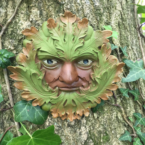 Green Heritage Greenman Garden Wall Art by David Lawrence - Prezents.com