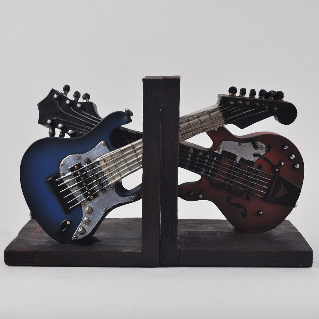 red and blue electric guitar shelf tidies prezents. Black Bedroom Furniture Sets. Home Design Ideas