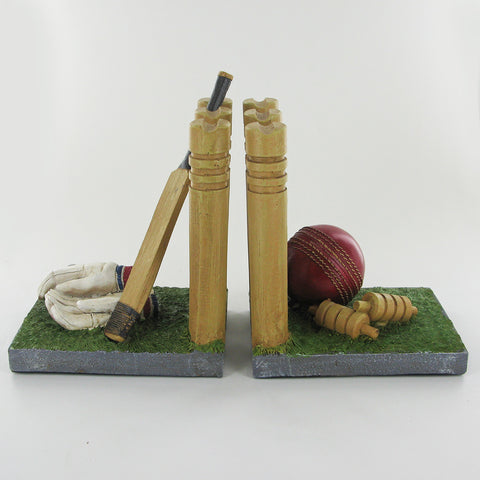 Cricket Stumps Book Ends - Prezents.com