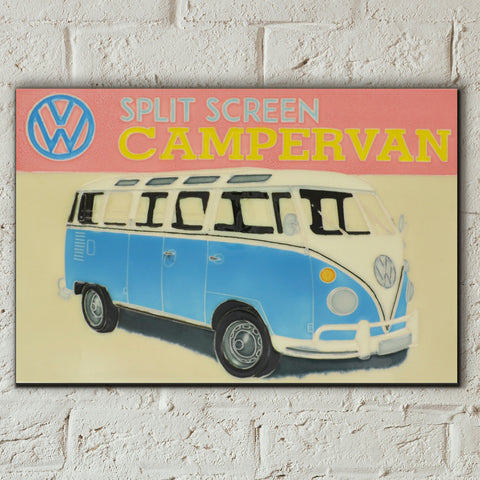 VW Split Screen Campervan Decorative Ceramic Tile