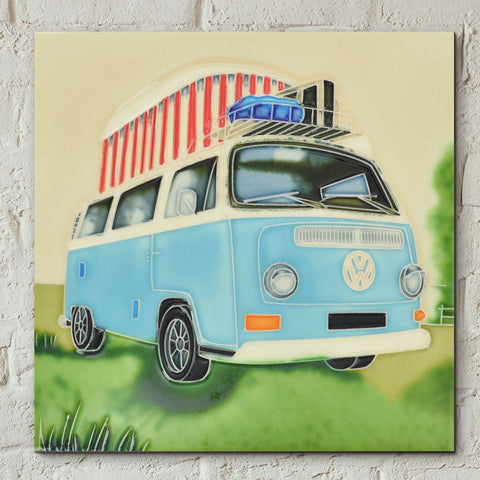 VW Camping Weekend Decorative Ceramic Tile