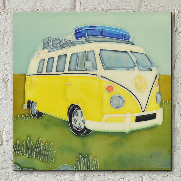VW Roadtrip Decorative Ceramic Tile - Prezents.com