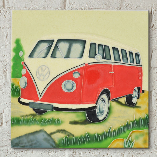 VW Forest Adventure Decorative Ceramic Tile - Prezents.com