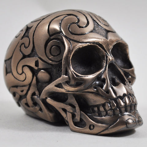 Tribal Skull - Cold Cast Bronze