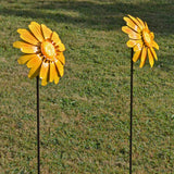 Flower Stakes- Pack of 2 Yellow Flower - Prezents.com